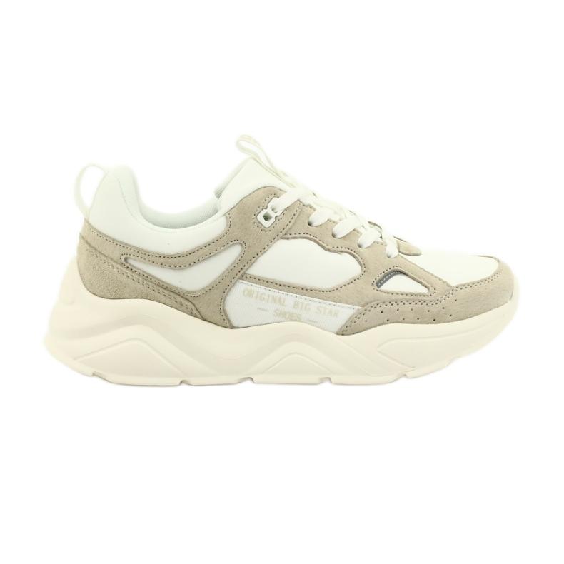 Buty sportowe Weiss Beige Big Star GG274657 beżowy białe ecru