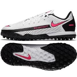 Buty piłkarskie Nike Phantom Gt Academy Tf Jr CK8484-160 białe wielokolorowe