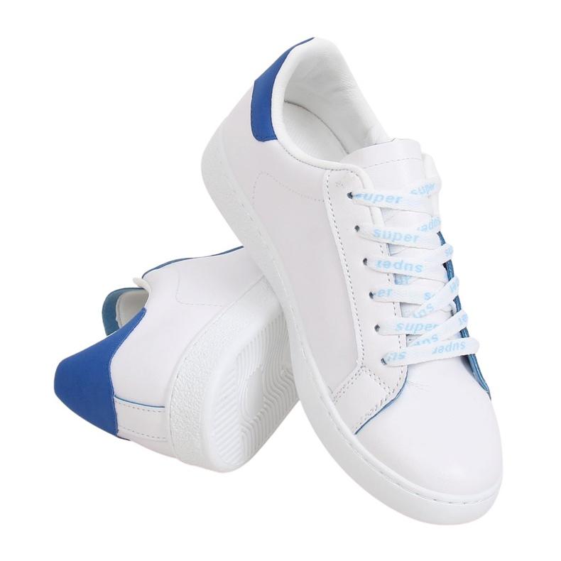 Trampki damskie białe 5G-2 Blue niebieskie