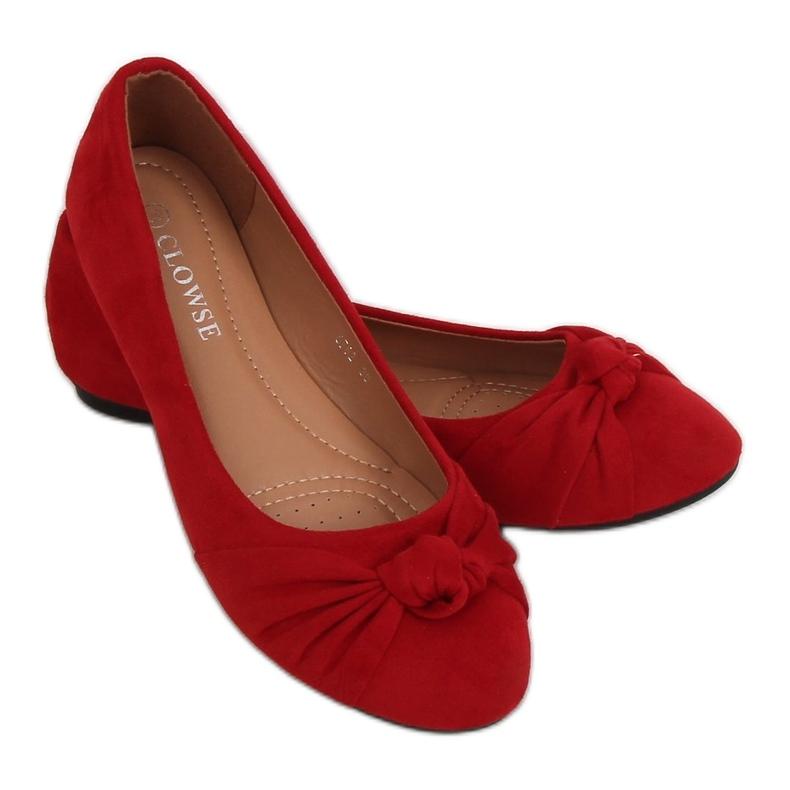 Baleriny damskie czerwone 8F62 Red