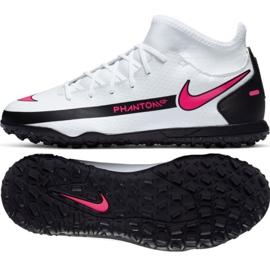 Buty piłkarskie Nike Phantom Gt Club Df Tf Jr CW6729-160 białe wielokolorowe