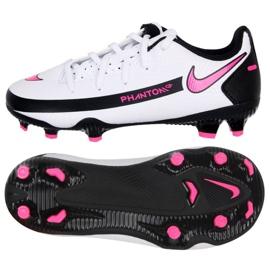 Buty piłkarskie Nike Phantom Gt Club FG/MG Jr DC9466-160 białe wielokolorowe