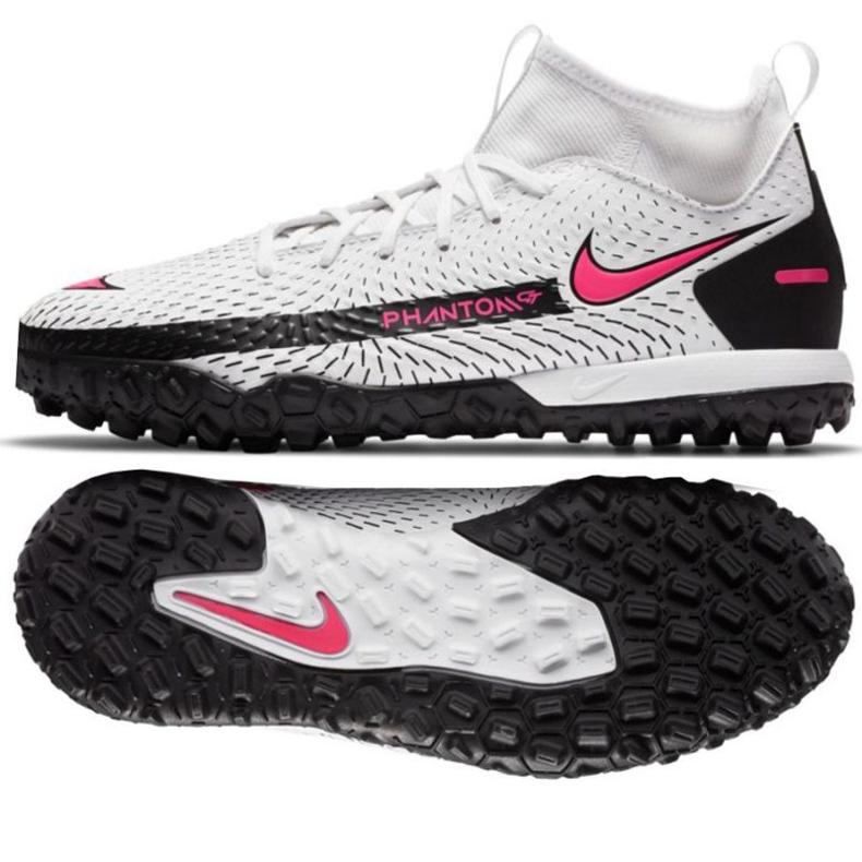 Buty piłkarskie Nike Phantom Gt Academy Df Tf Jr CW6695-160 białe wielokolorowe