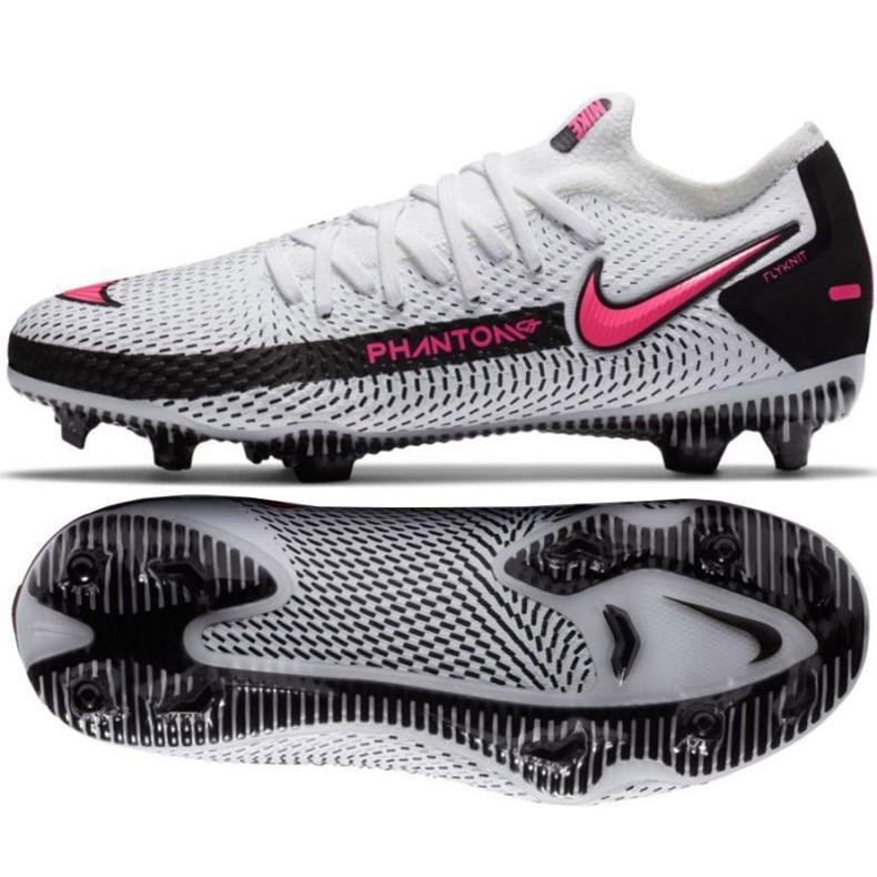 Buty piłkarskie Nike Phantom Gt Elite Fg Jr CK8473-160 białe wielokolorowe