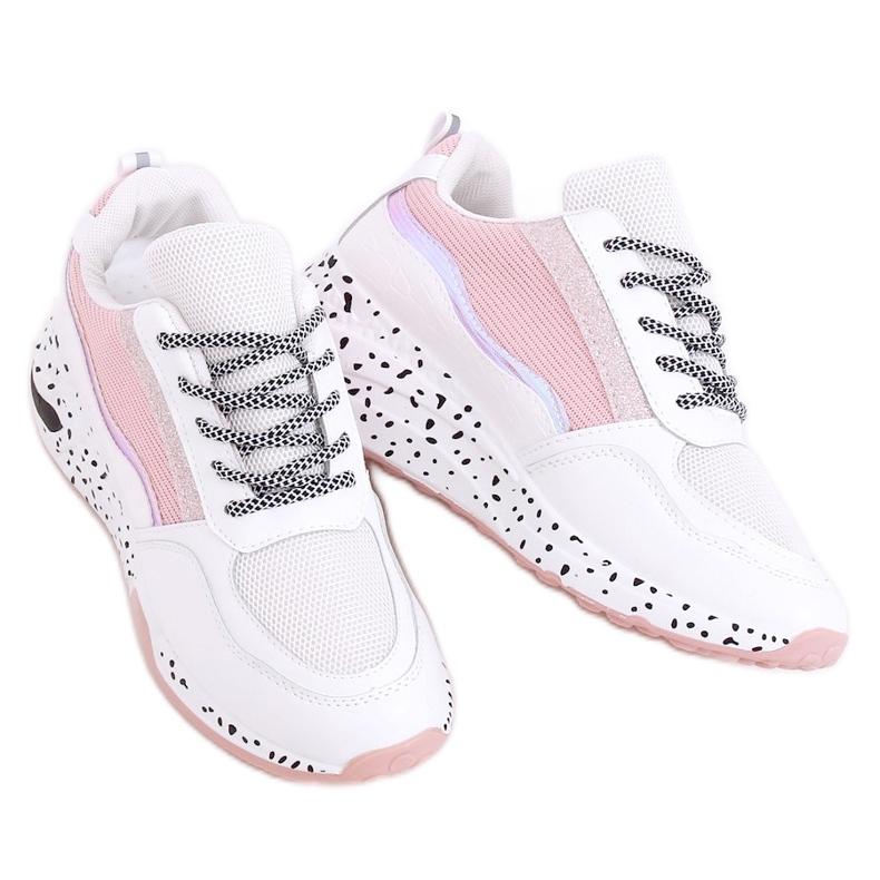 Buty sportowe damskie białe C-3151 Pink
