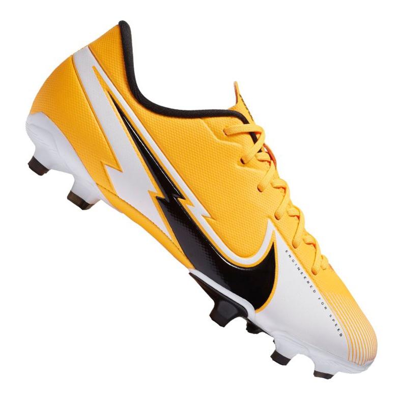 Buty piłkarskie Nike Vapor 13 Academy Mg Jr AT8123-801 żółte wielokolorowe