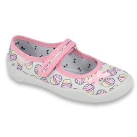 Befado obuwie dziecięce 114X390 różowe szare