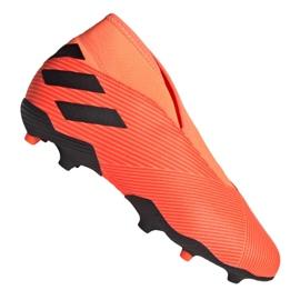 Buty piłkarskie adidas Nemeziz 19.3 Ll Fg Jr EH0488 pomarańczowe czerwone