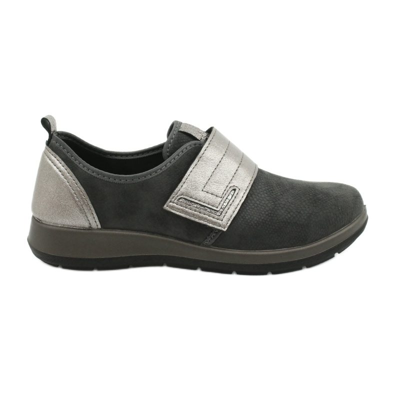 Befado obuwie damskie 156D003 czarne szare