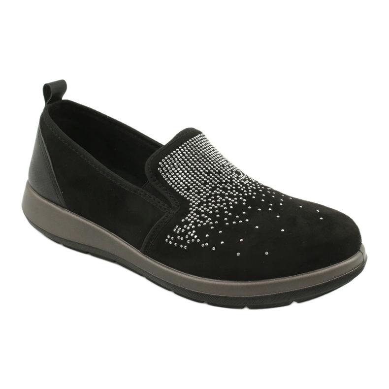 Befado obuwie damskie 156D004 czarne szare
