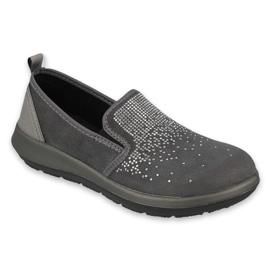 Befado obuwie damskie 156D005 czarne szare