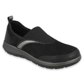 Befado obuwie damskie 156D006 czarne szare