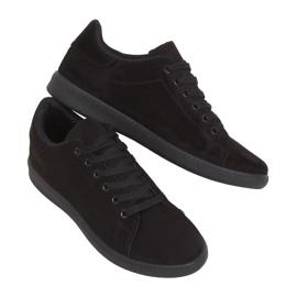 Trampki damskie zamszowe czarne 6301 Black
