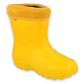 Befado obuwie dziecięce kalosz- żółty 162X107 żółte