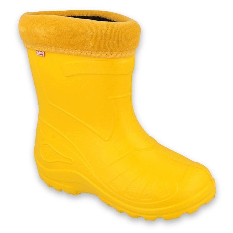 Befado obuwie dziecięce kalosze- żółty 162Y107 żółte