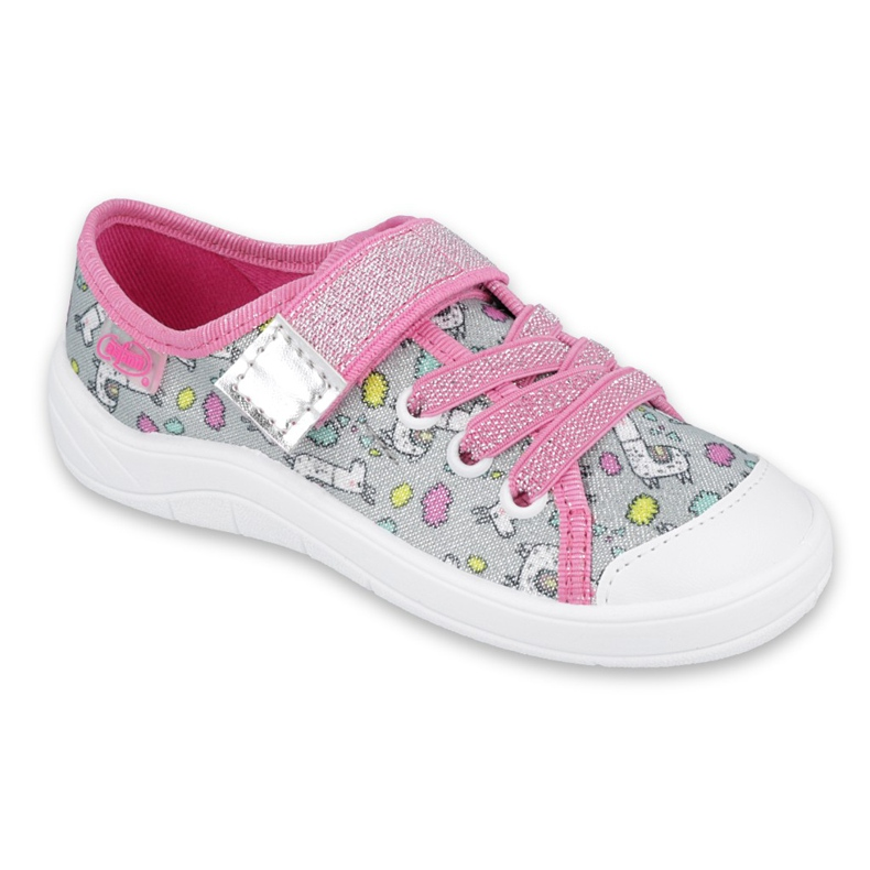 Befado obuwie dziecięce 251X158 różowe szare