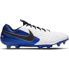 Buty piłkarskie Nike Tiempo Legend 8 Elite M Fg AT5293 104 białe wielokolorowe