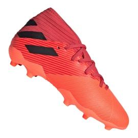 Buty piłkarskie adidas Nemeziz 19.3 Fg Jr EH0492 czerwone czerwone