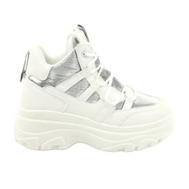 Evento Wysokie buty sportowe 20BT26-3192 białe srebrny