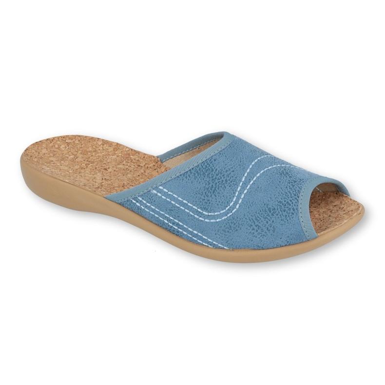 Befado obuwie damskie pu 254D114 niebieskie