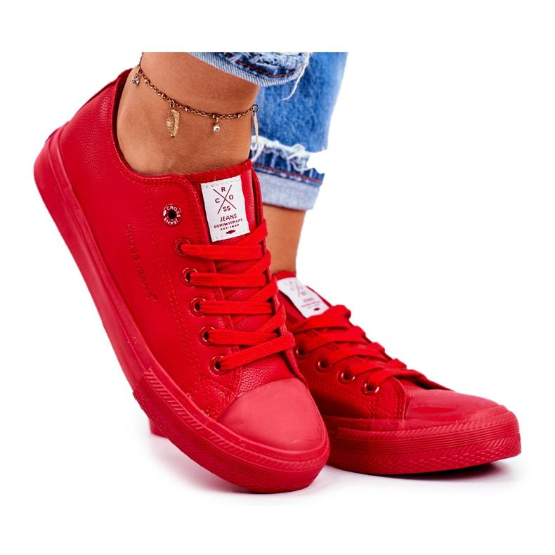 Damskie Trampki Cross Jeans Czerwone DD2R4032