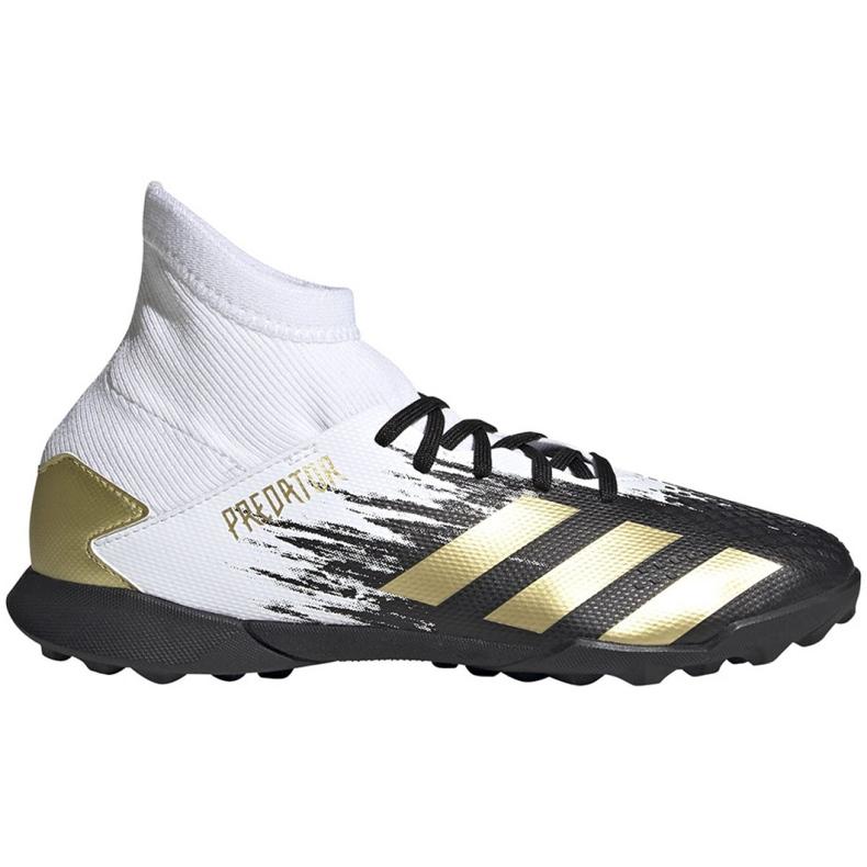 Buty piłkarskie adidas Predator 20.3 Tf Jr FW9220 białe szare