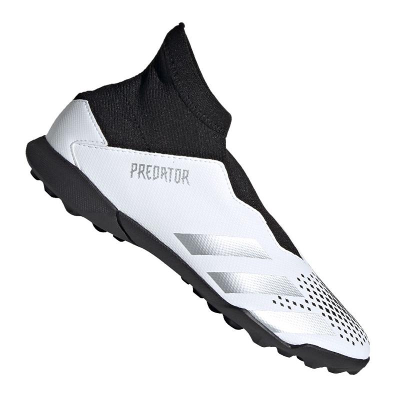 Buty piłkarskie adidas Predator 20.3 Ll Tf Jr FW9211 białe czarny, biały, czarny, szary/srebrny