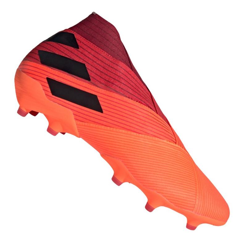 Buty piłkarskie adidas Nemeziz 19+ Fg M EH0772 pomarańczowe wielokolorowe