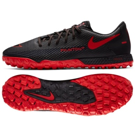 Buty piłkarskie Nike React Phantom Gt Pro Tf M CK8468-060 czarne wielokolorowe