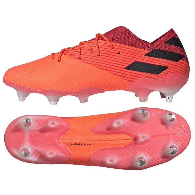 Buty piłkarskie adidas Nemeziz 19.1 Sg M EH0562 pomarańczowe wielokolorowe