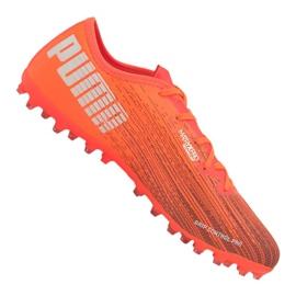 Buty piłkarskie Puma Ultra 2.1 Mg M 106082-01 pomarańczowe wielokolorowe
