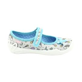 Befado obuwie dziecięce 114X391 niebieskie szare