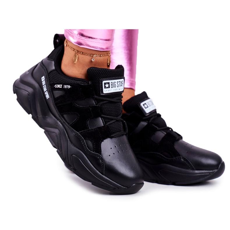 Damskie Sportowe Buty Big Star Czarne GG274636