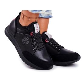 Sportowe Damskie Buty Sneakersy Cross Jeans Czarne GG2R4046C