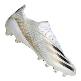Buty piłkarskie adidas X Ghosted.1 Ag M EG8154 białe czarny, biały, złoty