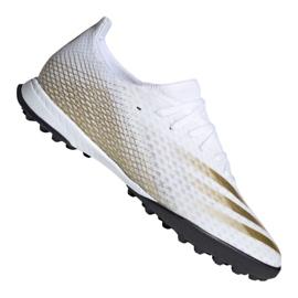 Buty piłkarskie adidas X Ghosted.3 Tf M EG8199 białe czarny, biały, złoty