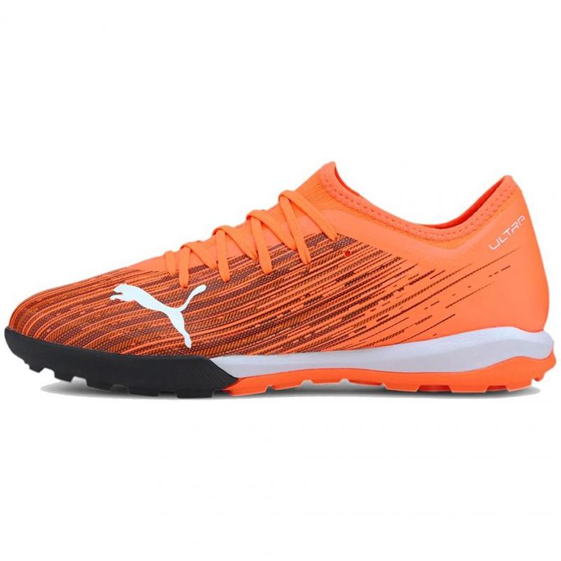 Buty piłkarskie Puma Ultra 3.1 Tt M 106089 01 pomarańczowe wielokolorowe