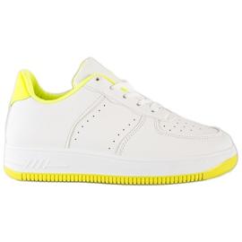 SHELOVET Sneakersy Na Platformie białe