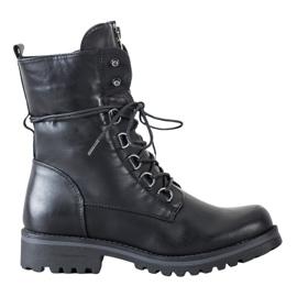 Queentina Wysokie Czarne Workery