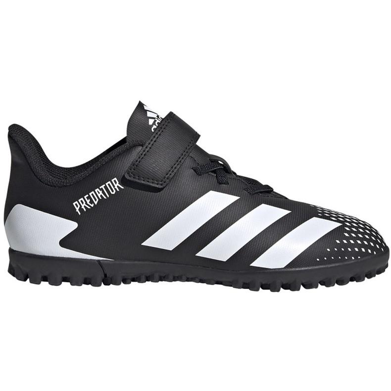 Buty piłkarskie adidas Predator 20.4 H&L Tf Jr FW9225 czarne białe