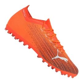 Buty piłkarskie Puma Ultra 1.1 Mg M 106078-01 pomarańczowe wielokolorowe