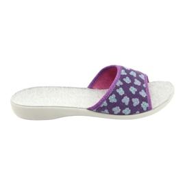 Befado obuwie damskie pu 300D042 fioletowe niebieskie szare