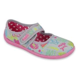 Befado  obuwie dziecięce 945X430 różowe szare wielokolorowe