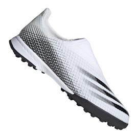 Buty piłkarskie adidas X Ghosted.3 Ll Tf M EG8158 szary/srebrny, biały, szary/srebrny białe