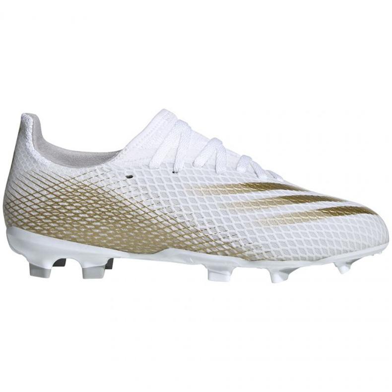 Buty piłkarskie adidas X GHOSTED.3 Fg Jr EG8210 białe białe