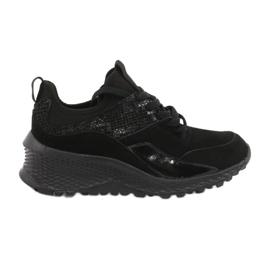 Filippo Slipony buty sportowe ze skarpetą DP1531/20 BK czarne