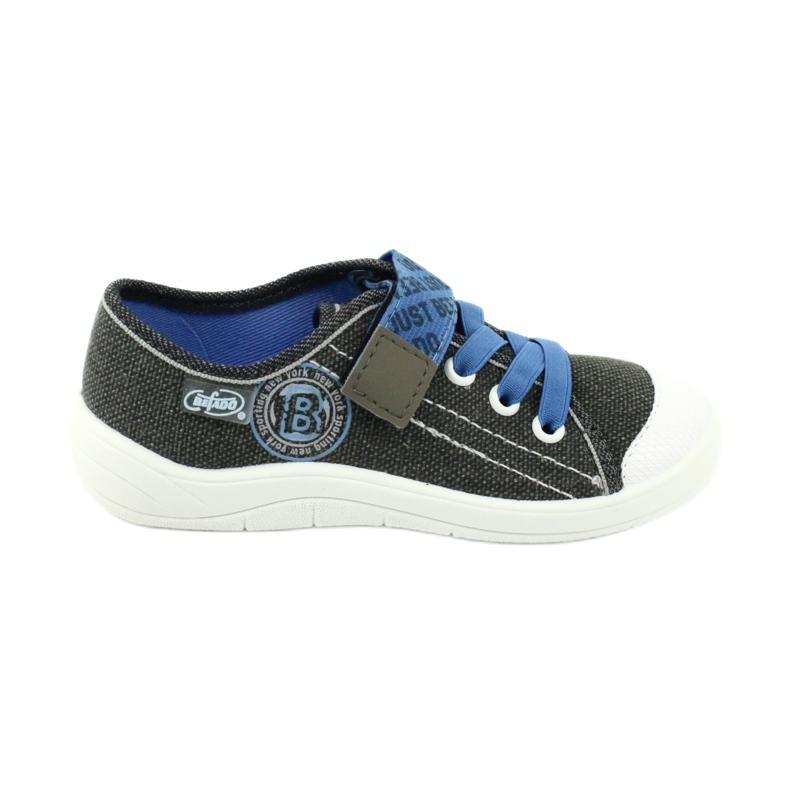 Befado obuwie dziecięce 251X129 niebieskie szare