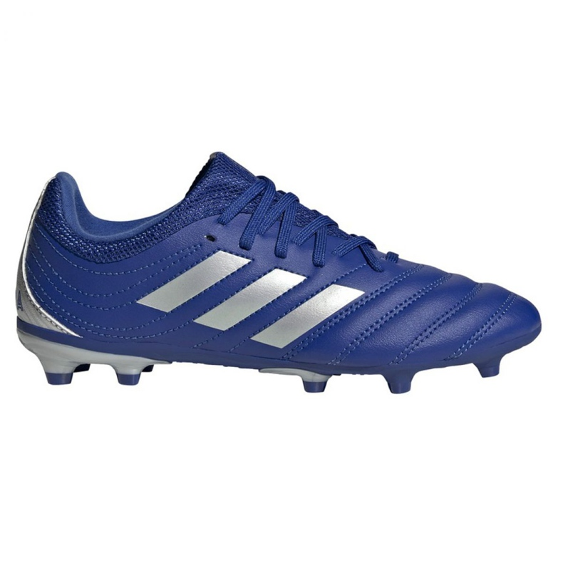 Buty piłkarskie adidas Copa 20.3 Fg Jr EH1810 białe niebieskie