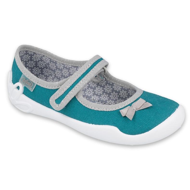 Befado obuwie dziecięce 114X434 szare zielone