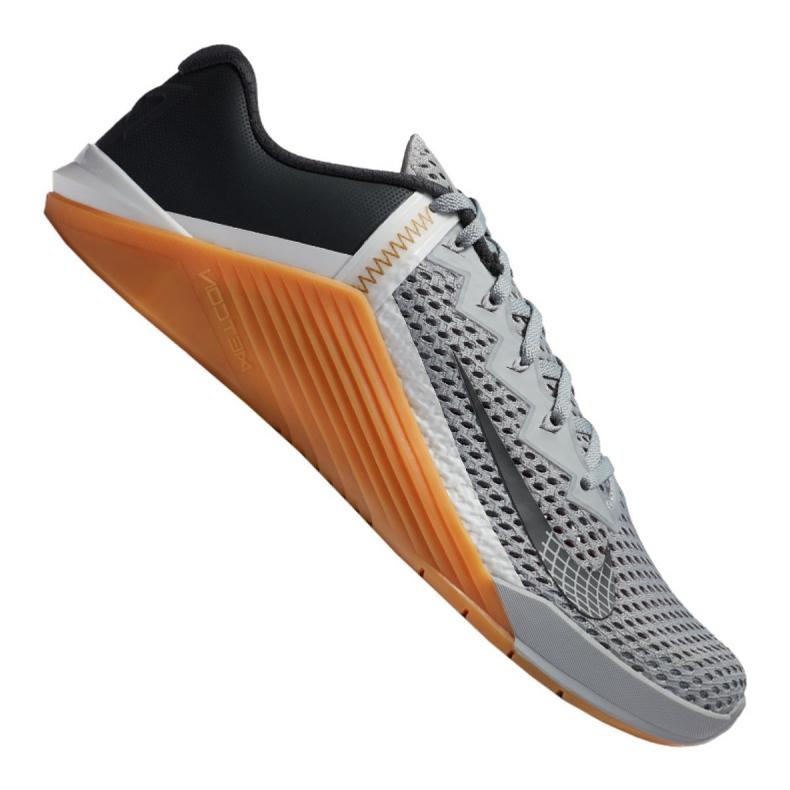 Buty treningowe Nike Metcon 6 M CK9388-009 białe czarne szare